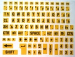 Nálepky - popis klávesnica SK